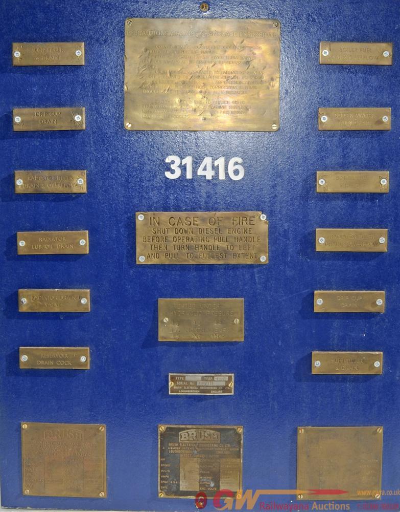 British Railways Class 31 Plates Mounted On A