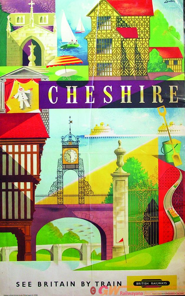 Poster, BR D/R Cheshire - See Britain By Train
