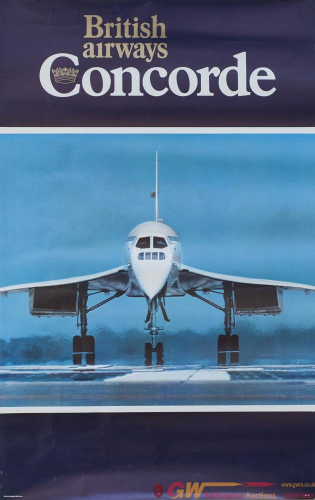 Poster BRITISH AIRWAYS CONCORDE. Double Royal 25in