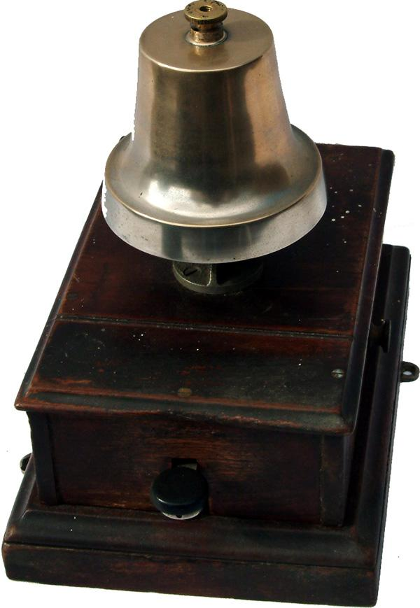 GWR Mahogany Cased Signal Box Block Bell Complete