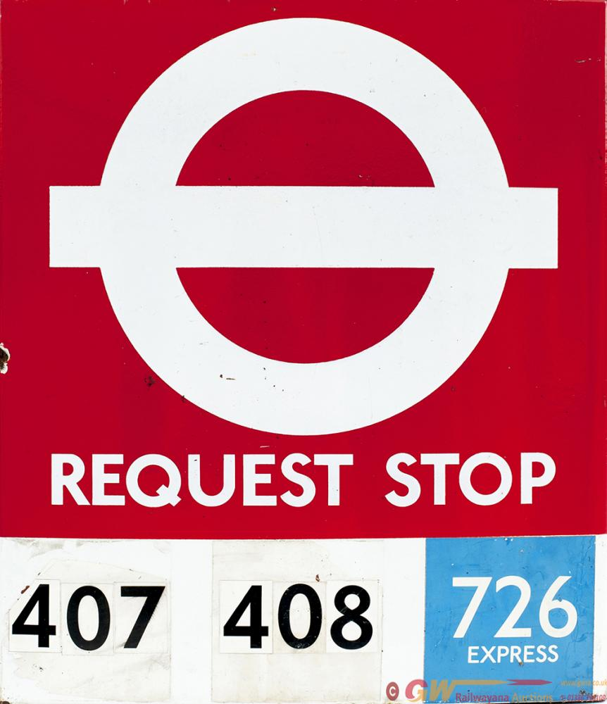 London Transport Enamel Double Sided Bus  Motoring