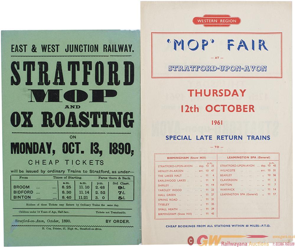 East & West Junction Railway Handbill Poster