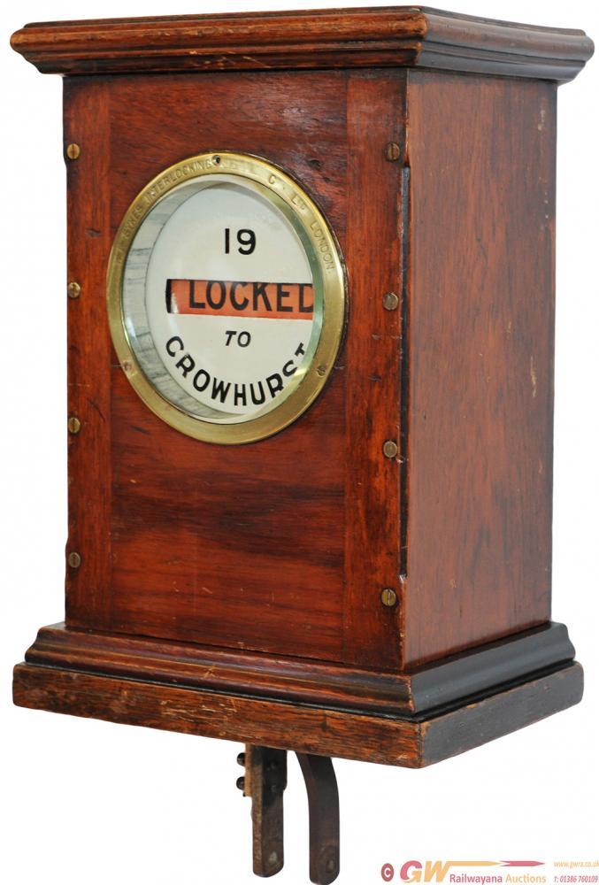Sykes Lock & Block Mahogany Cased Instrument Ex