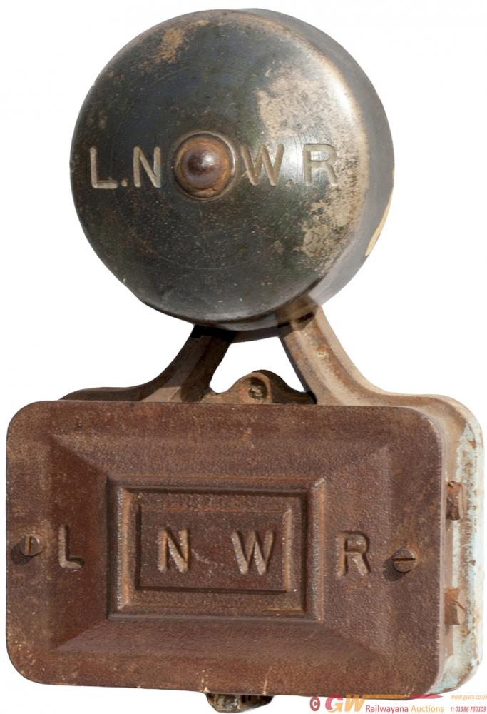 LNWR Electric Bell, Cast Iron With LNWR Cast Into