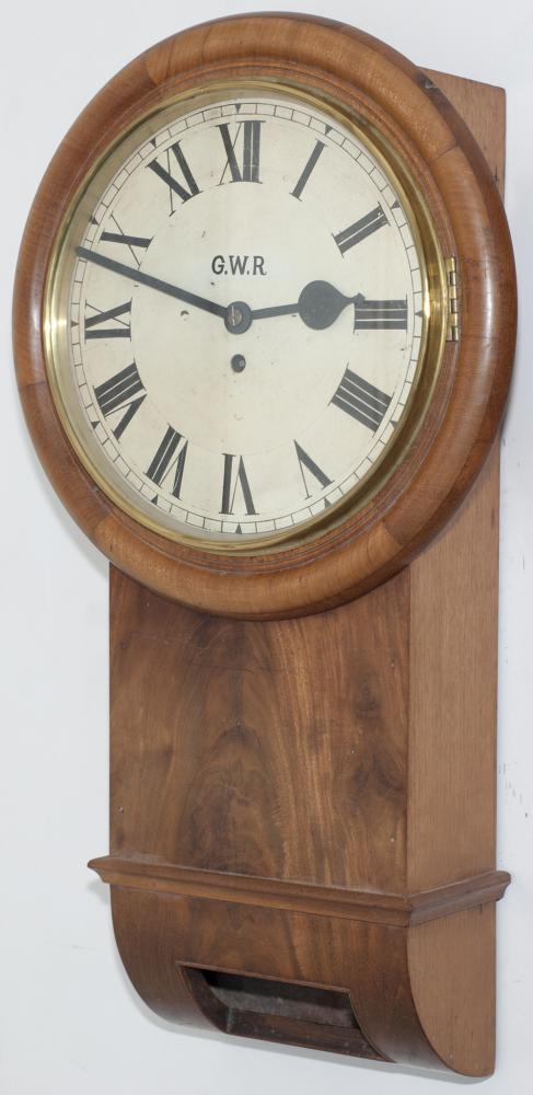 GWR 12 Inch Trunk Clock In Semi Restored Condition
