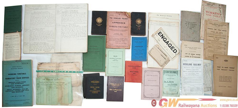 Highland Railway Rule Books; 2x 1888, One In