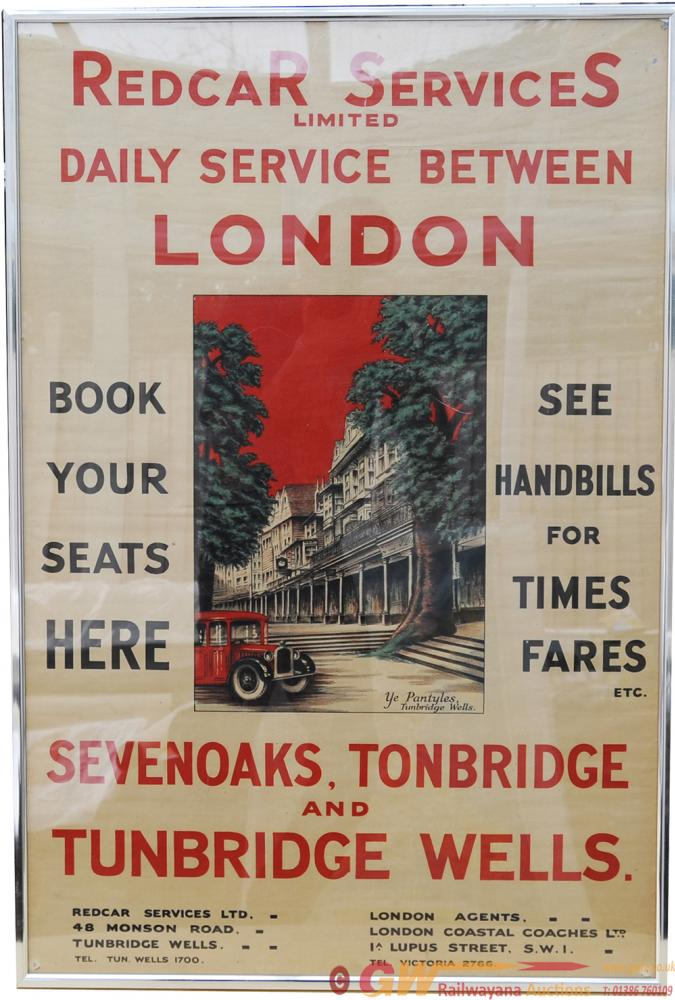 Poster, Advertising Type 'Redcar Services Ltd