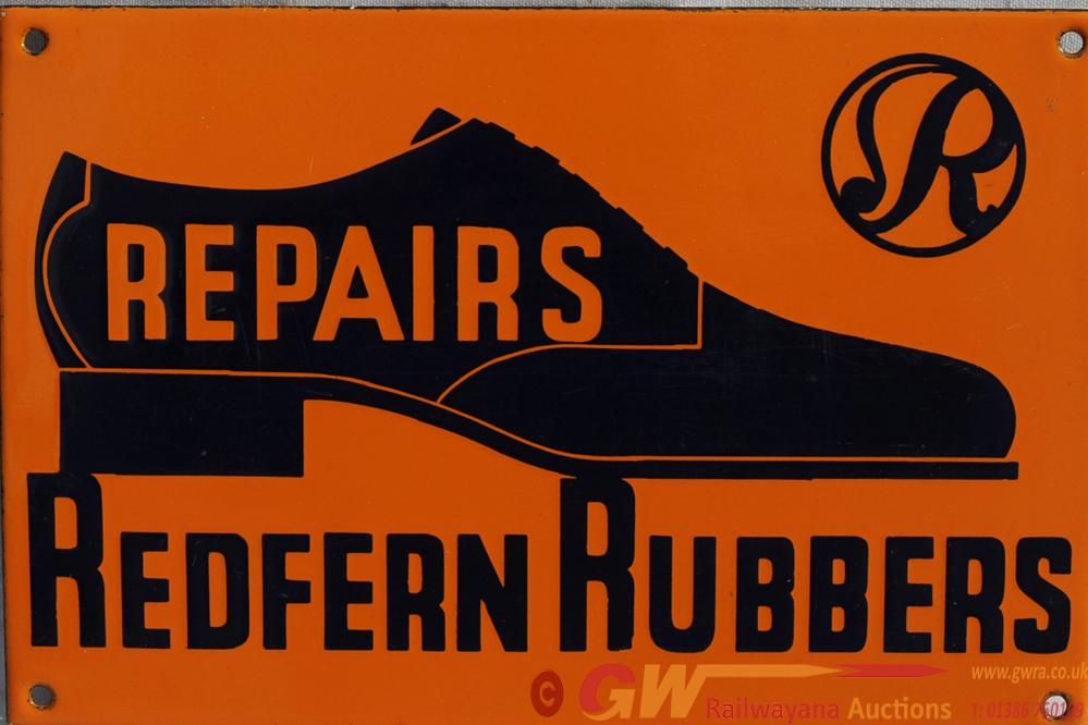 Advertising Enamel Sign 'Repairs Redferns