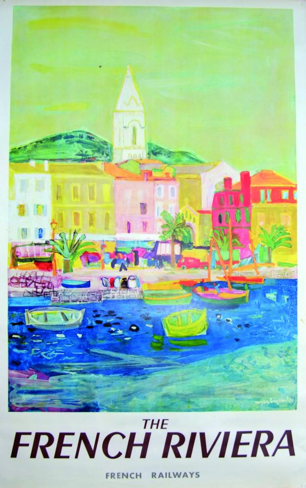 Poster, SNCF French Railways The French Riviera,