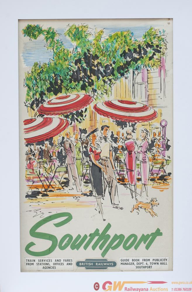 Original Gouache Artwork On Board SOUTHPORT For