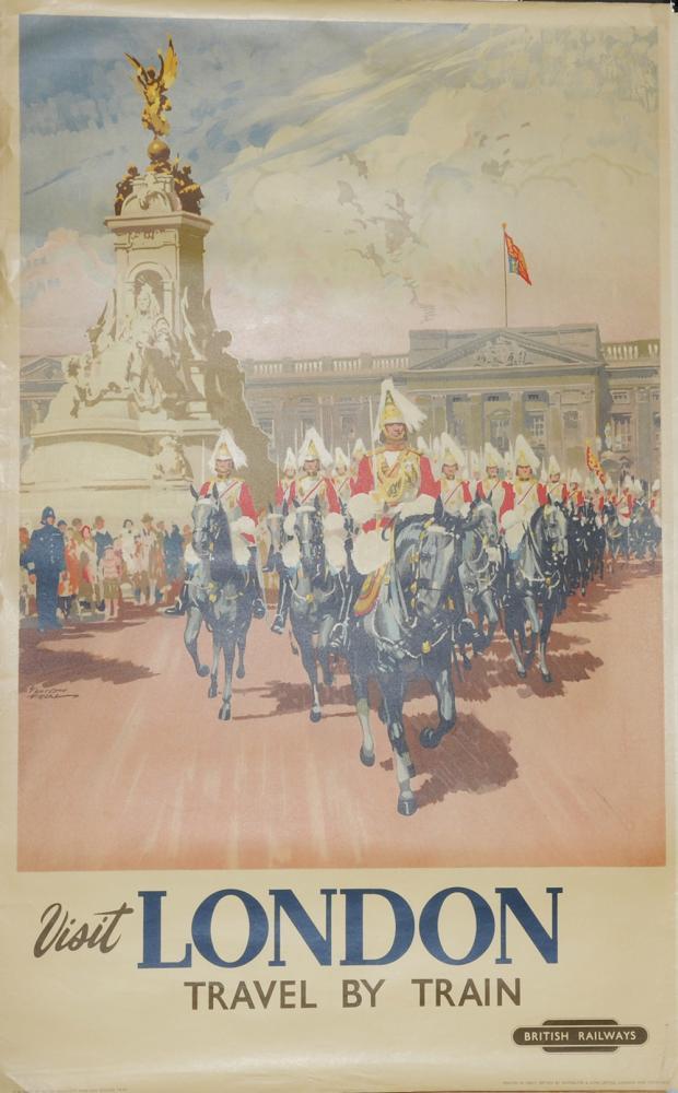 Poster, British Railways 'Visit London' By Nichol,