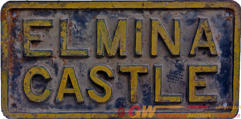 Nameplate ELMINA CASTLE, C/I Construction, Ex Gold