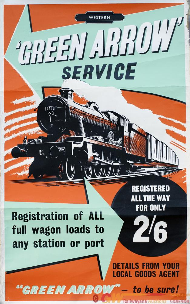 Poster BR WESTERN GREEN ARROW SERVICE By A.