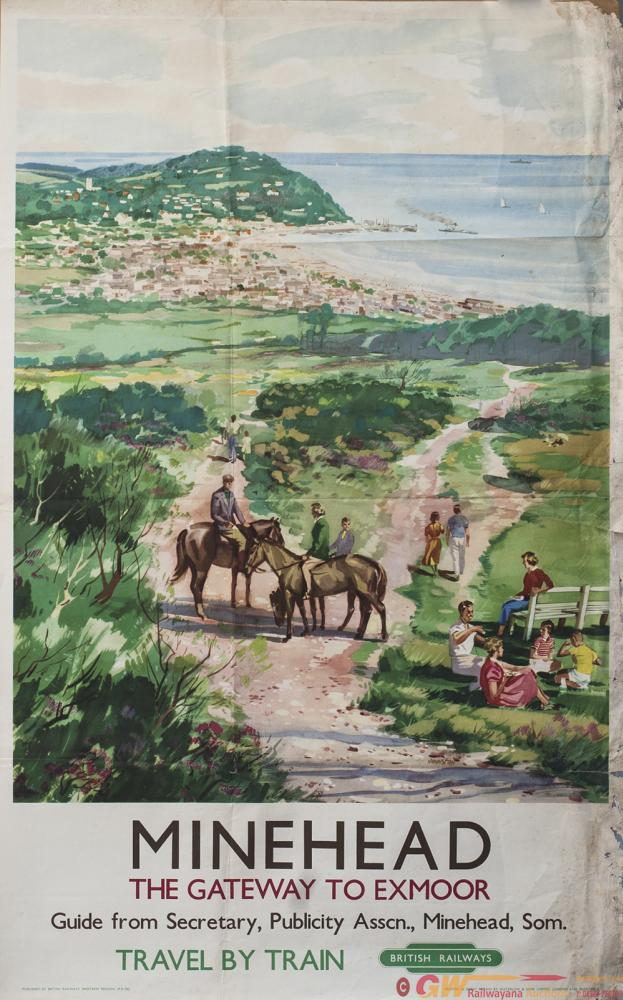Poster BR(W) MINEHEAD THE GATEWAY TO EXMOOR By