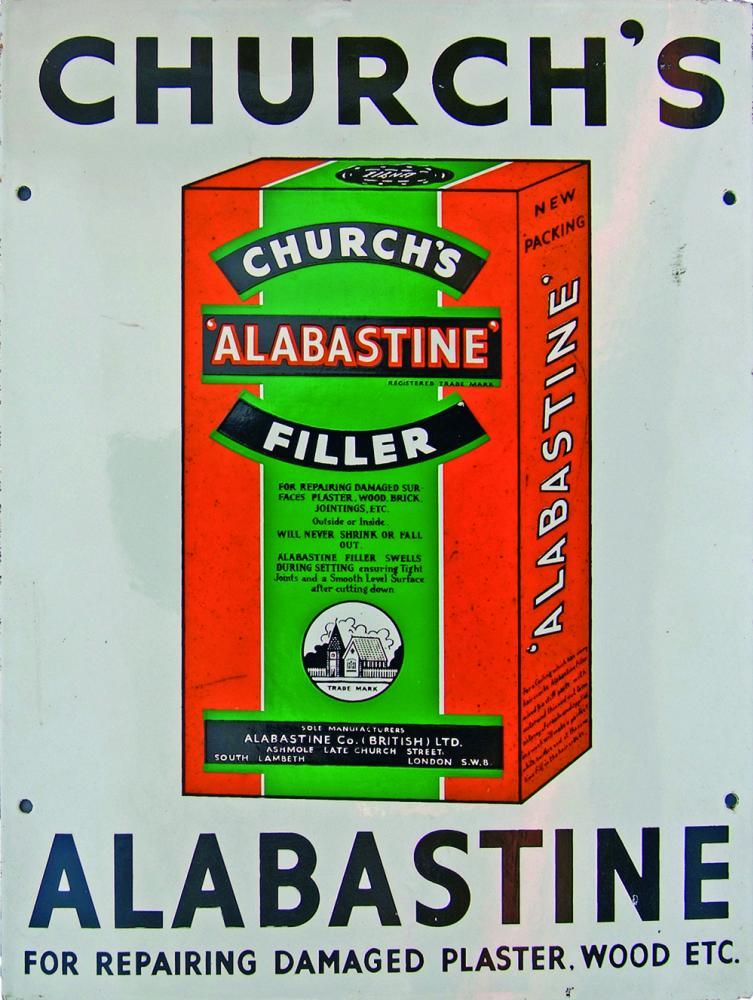Enamel Advertising Sign 'Church's Alabastine