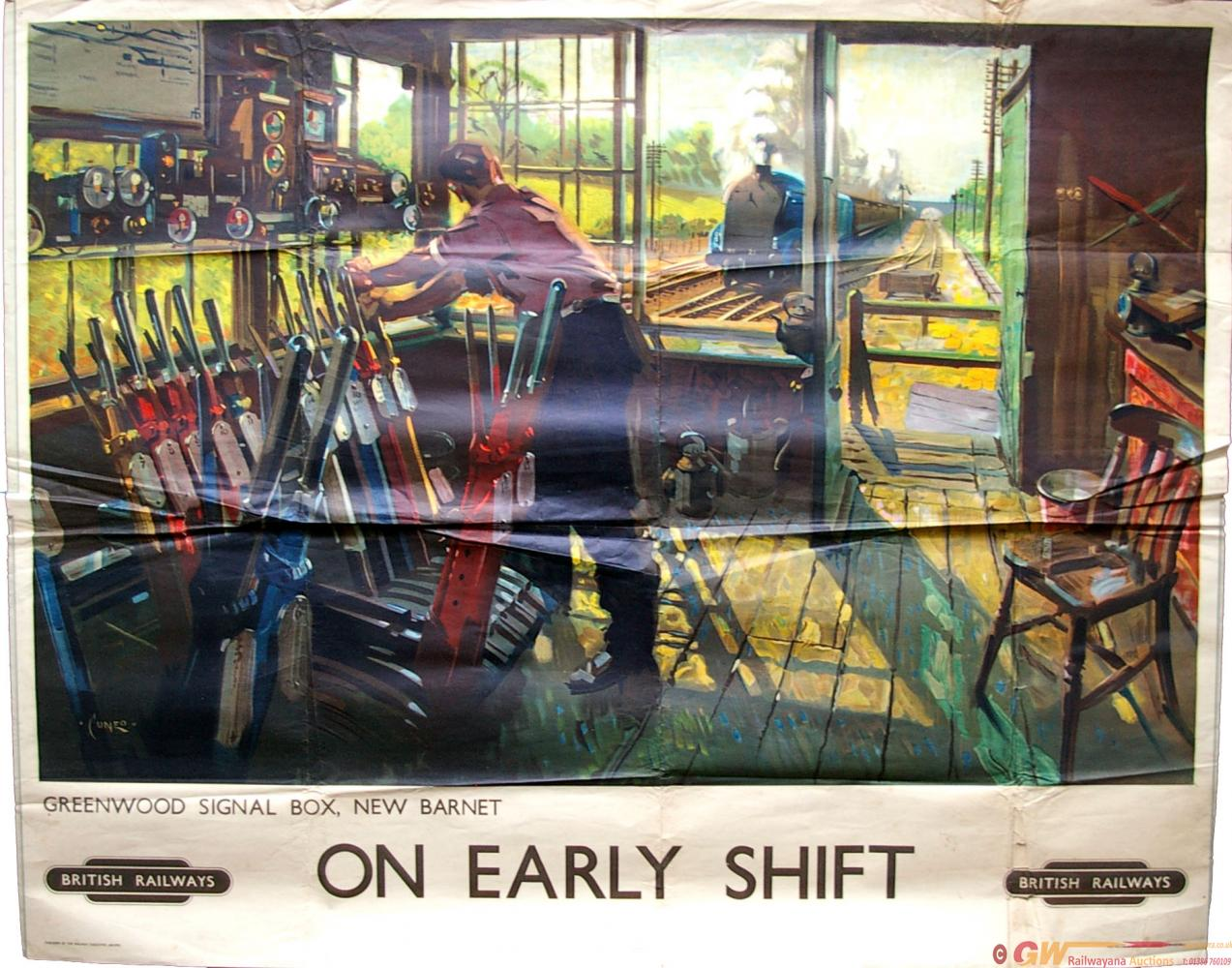 Poster, British Railways Q/R 'On Early Shift -