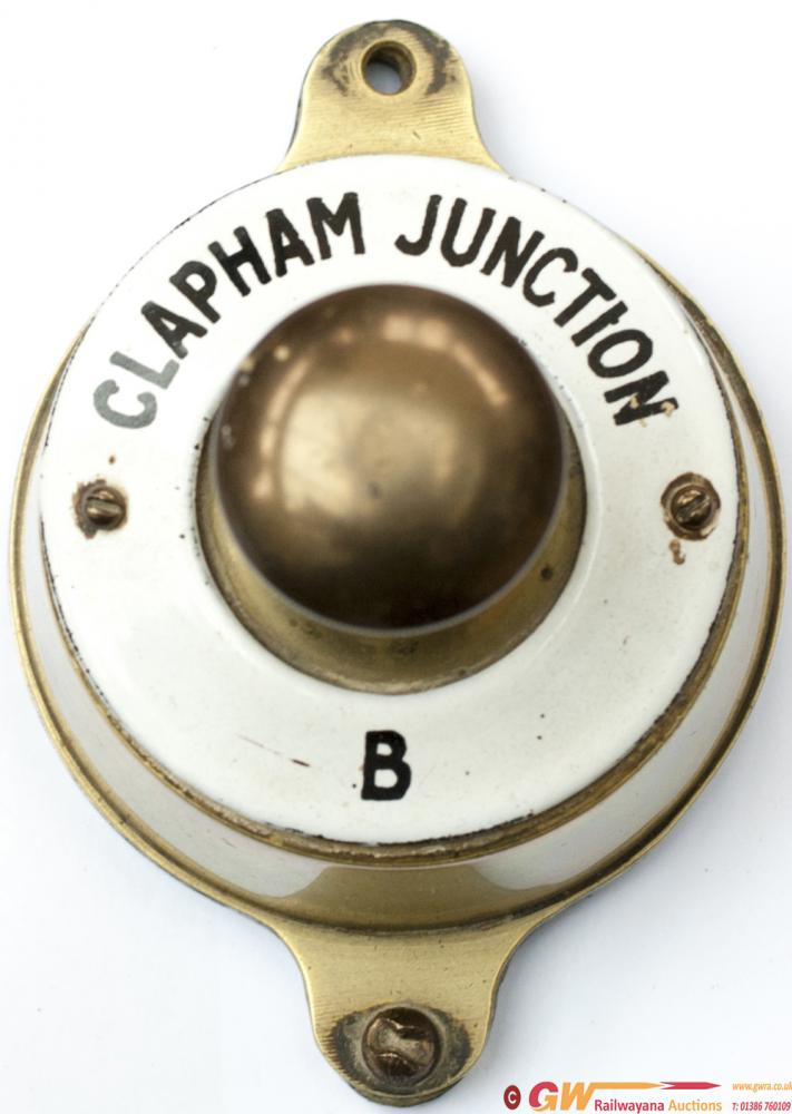 Southern Railway Brass Cased Signal Box Bell Push