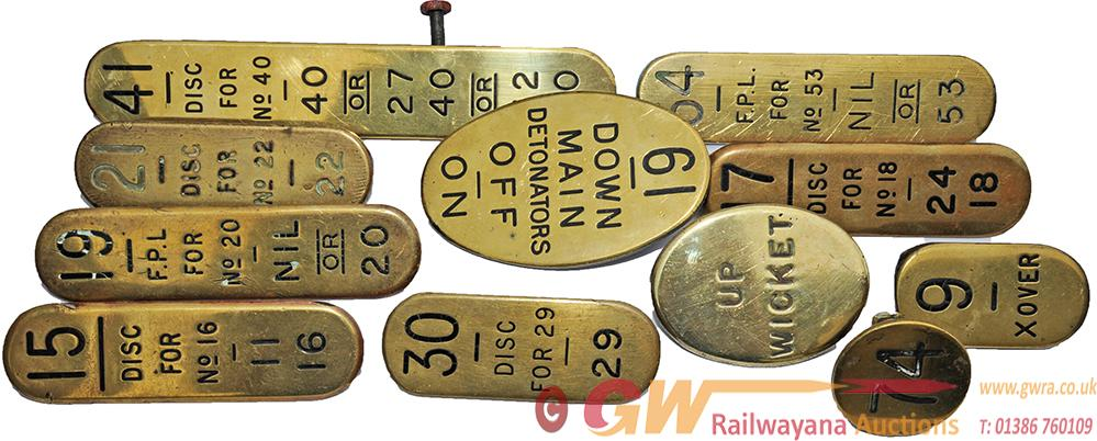 GWR Brass Signalbox Lever Leads, Qty 11 To Include