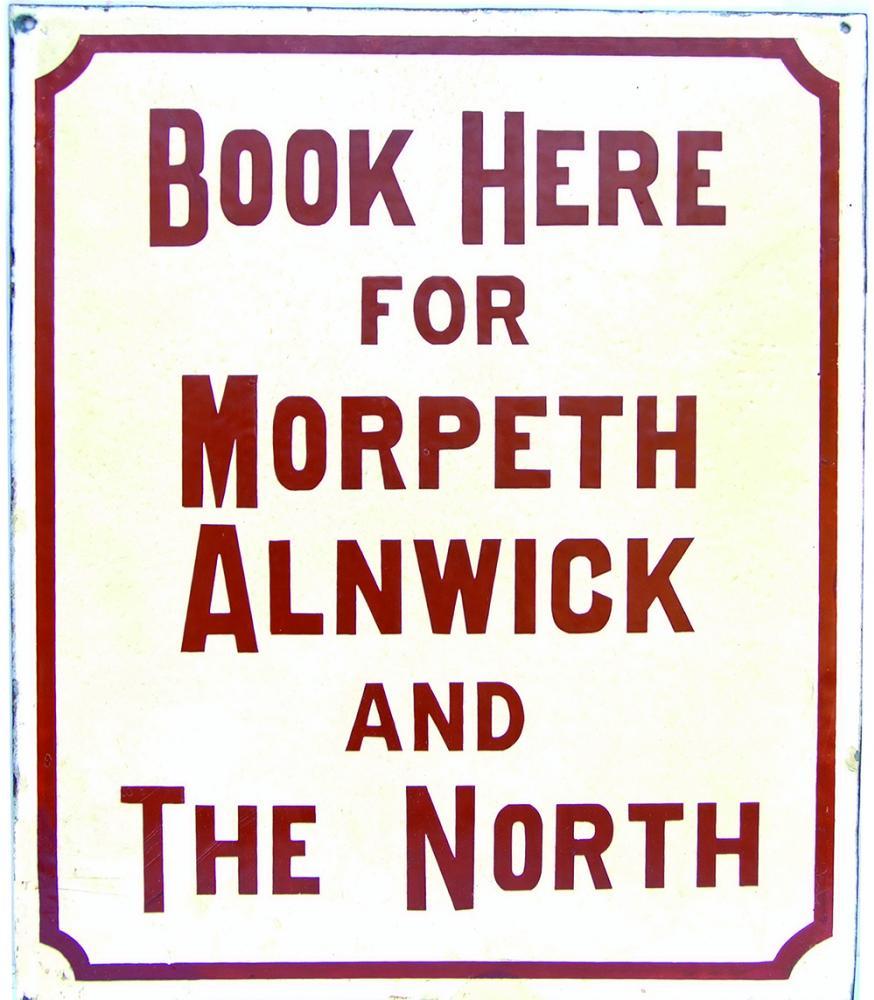 North Eastern Railway Early Enamel Sign 'BOOK HERE
