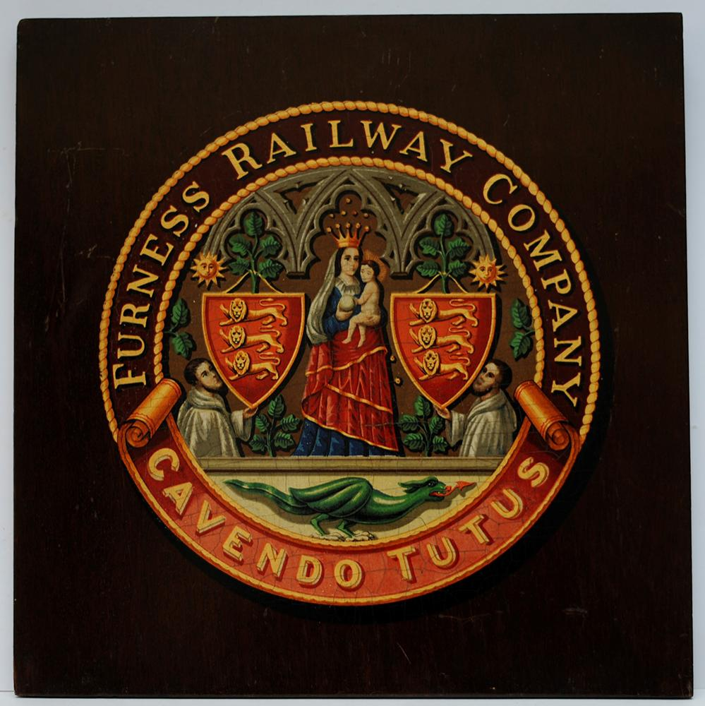 Furness Railway Mounted Crest. The Company Coat Of