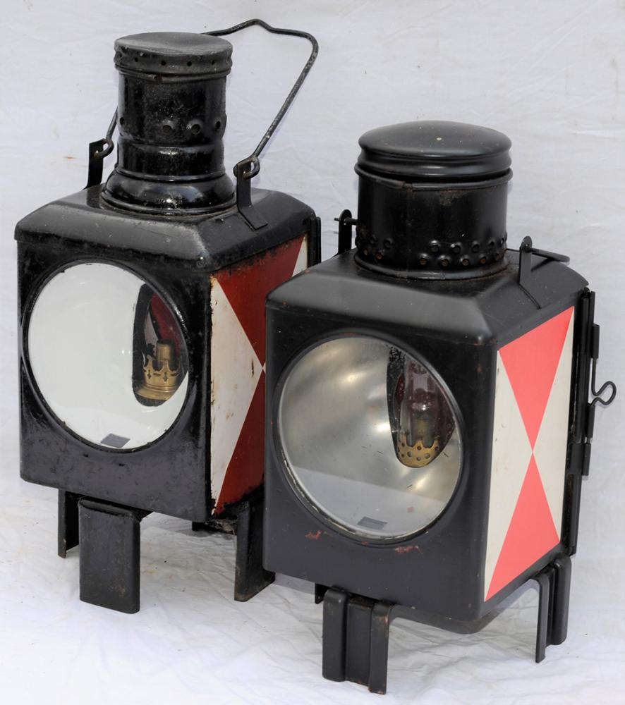 A Pair Of German Railway Lamps. Date Unknown.