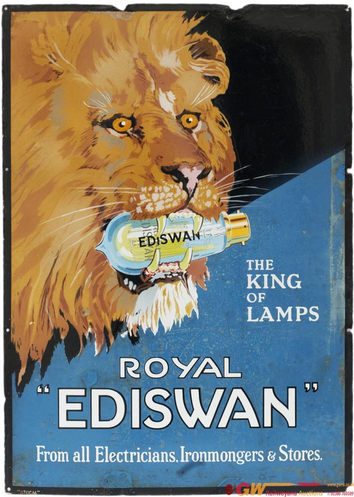 Advertising Enamel Sign ROYAL EDISWAN THE KING OF
