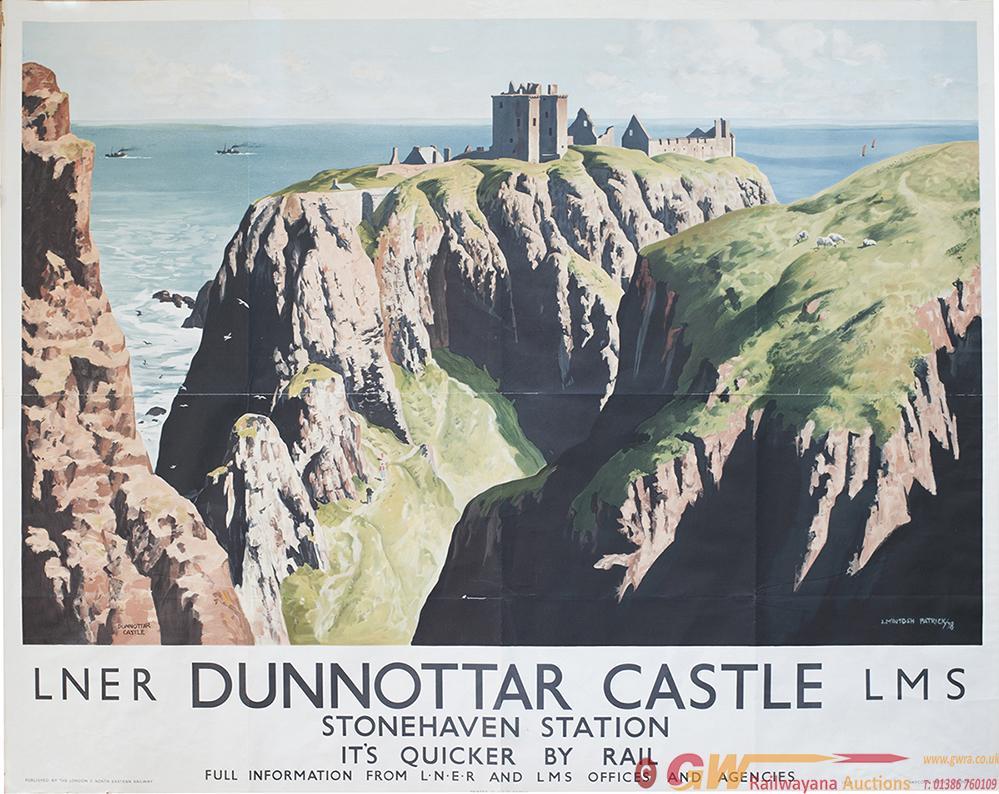 Poster LNER/LMS DUNNOTTAR CASTLE STONEHAVEN