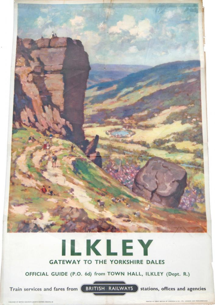 Poster, ILKLEY Anon, D/R. Small Tear At Top And