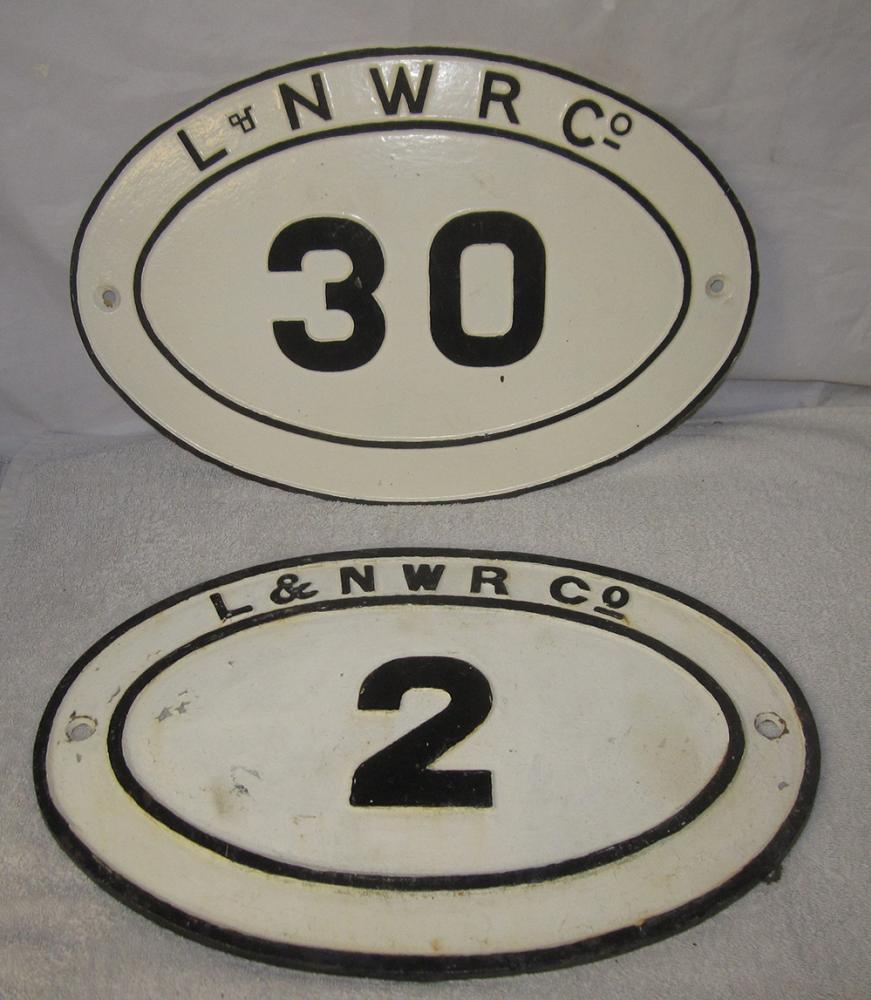 Two LNWR Co Cast Iron Bridge Plates. No 2 And No