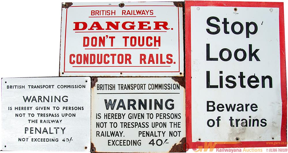 BR Enamel And Metal Sign Selection To Include;