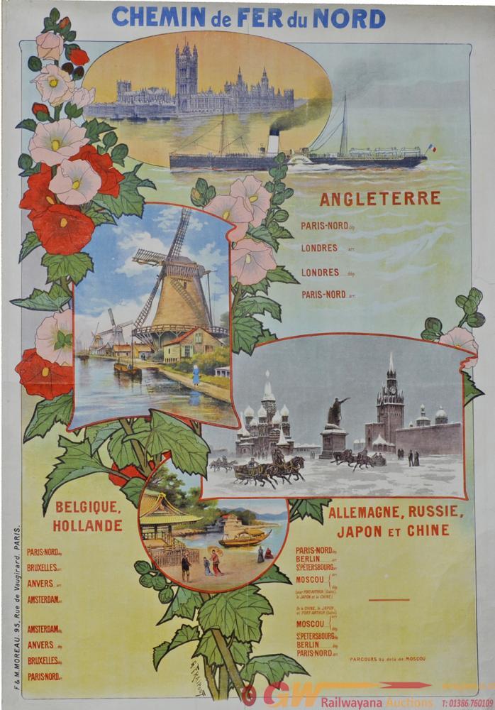 Poster Chemins De Fer Du Nord - Angleterre,