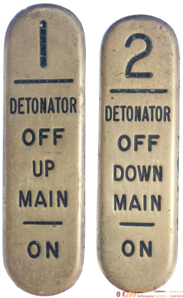 GWR Signal Lever Leads, A Pair; 1 DETONATOR OFF UP
