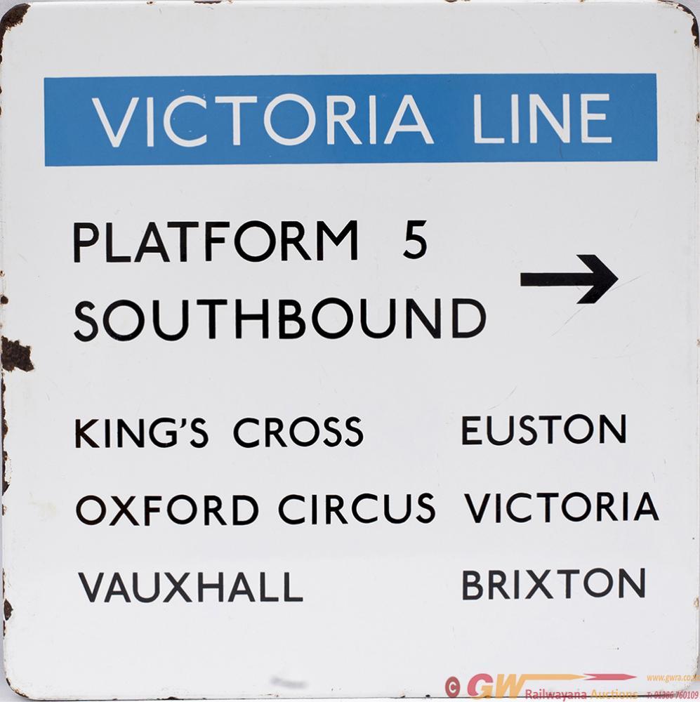 London Transport FF Enamel Sign VICTORIA LINE
