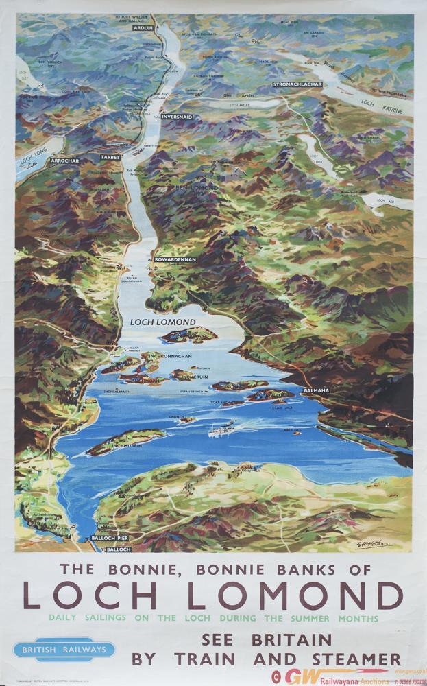 Poster BR(SC) LOCH LOMOND By W. Nicolson. Double
