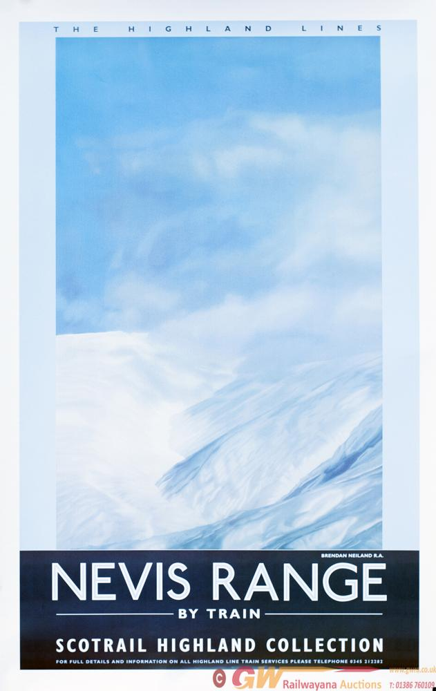 Poster Scotrail THE HIGHLAND LINE NEVIS RANGE BY