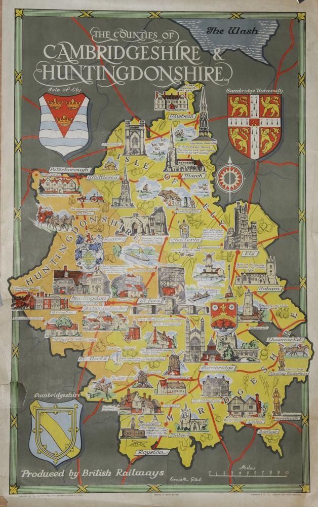 Poster BR  The Counties Of Cambridgeshire &