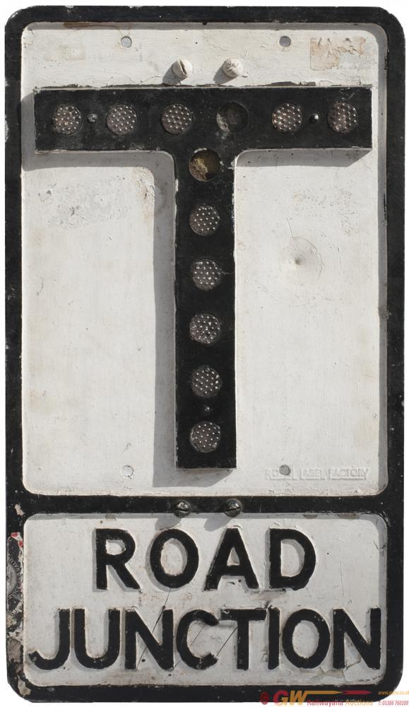 Motoring Road Sign Cast Aluminium ROAD JUNCTION