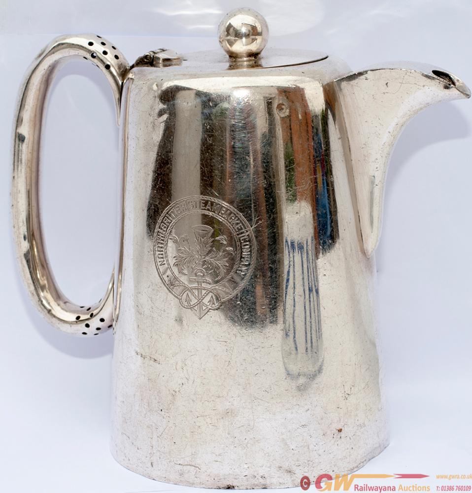 Silverplate Coffee Jug North British Steam Packet