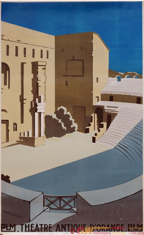 Poster PLM (Paris Lyon Marseille Railway) 'Theatre