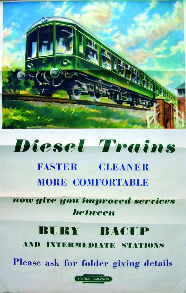 Poster 'Diesel Trains - Faster, Cleaner , More