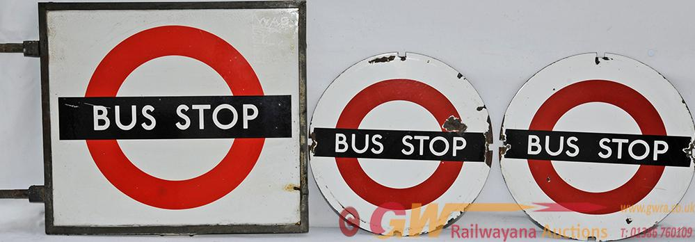 London Transport Bus Stop Sign In Original Bronze