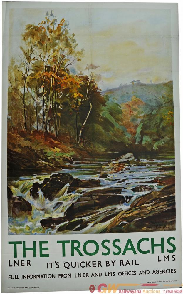 Poster LNER/LMS 'The Trossachs' By R. Payton-Reid,