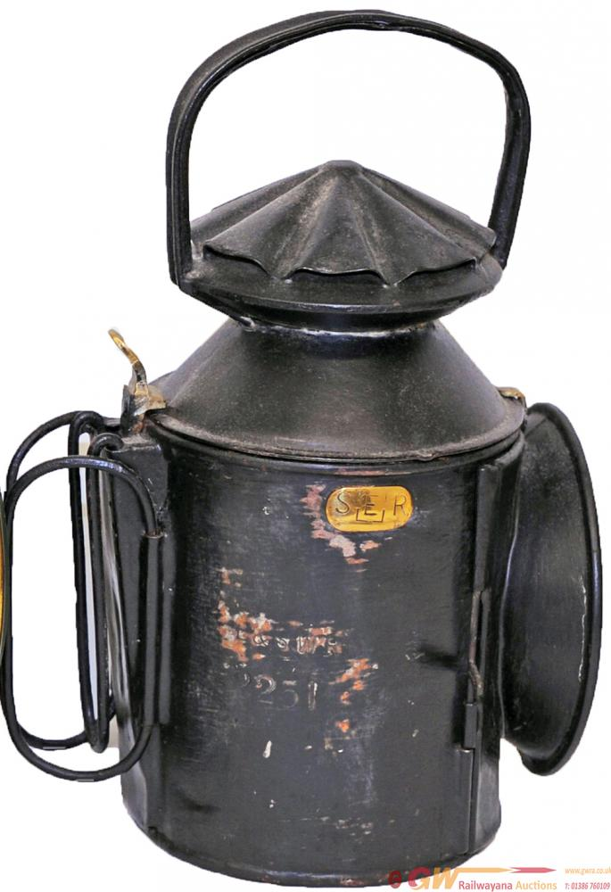 LSWR 3 Aspect Handlamp Stamped 'LSWR 2251' On The
