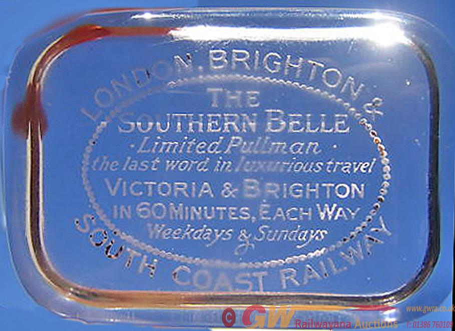 LBSCR Glass Paperweight With Full Company Title