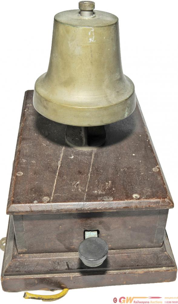 GWR Mahogany Cased Block Bell With A Church Bell.