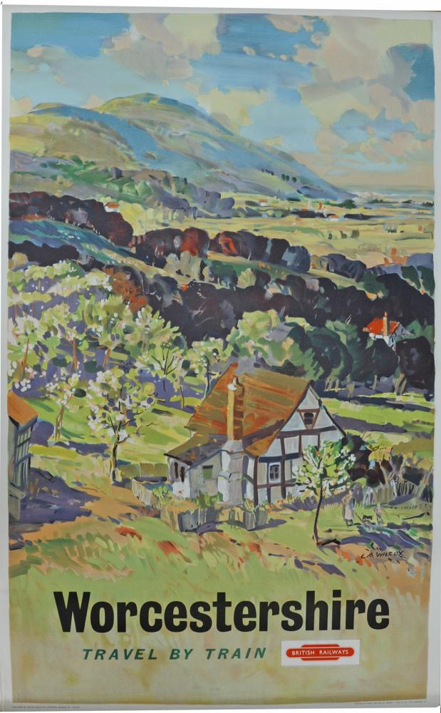 BR Poster, 'Worcestershire' By L A Wilcox, Double