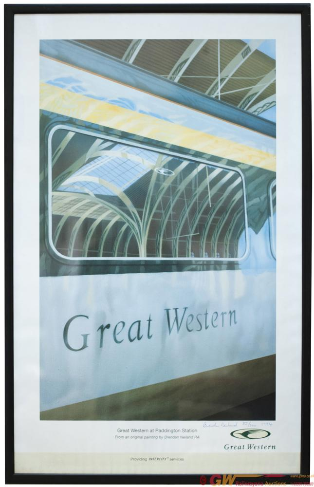 Poster GREAT WESTERN AT PADDINGTON STATION By