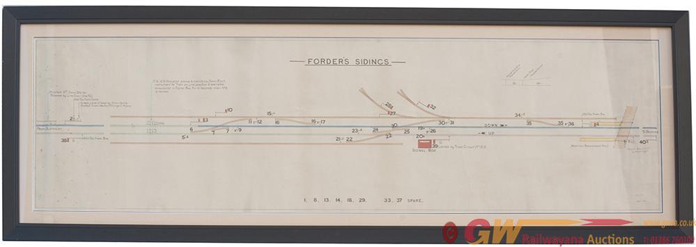 LMS Signal Box Diagram FORDERS SIDINGS, Full