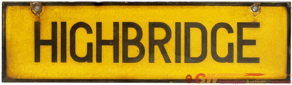<P>LMS Enamel Lamp Tablet HIGHBRIDGE From The