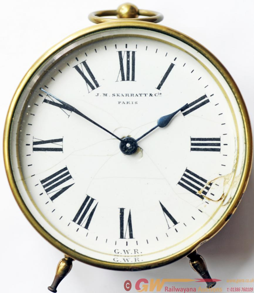 GWR Brass Cased Drum Clock Bearing The